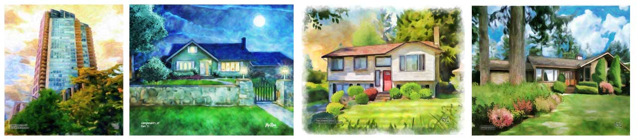 house portrait samples