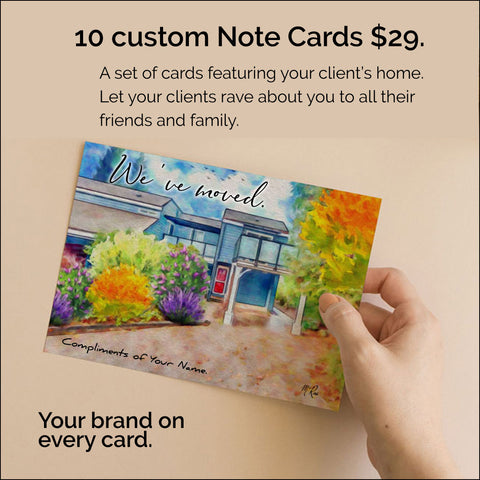 set of 10 Note Cards
