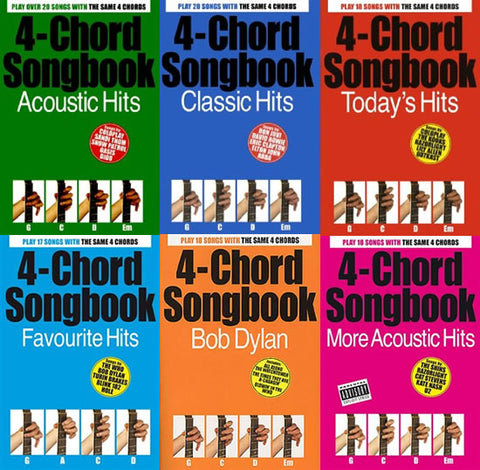 4 Chord Songbooks for Guitar