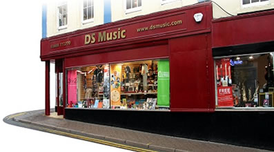 DS Music Shopfront in Monmouth, South Wales