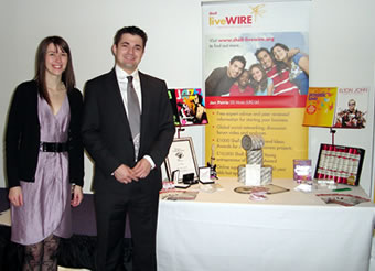 Jon & Louise at the Shell LiveWIRE Networking Day