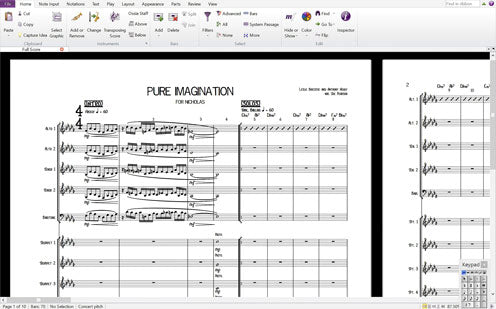 Sibelius 7 MAC & PC screenshot