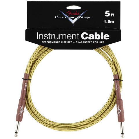Fender Custom Shop Instrument Cable in Tweed - 5ft