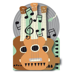 3D Die-Cut Greetings Card - Guitar Notes