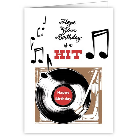 Hit Record Happy Birthday Greetings Card
