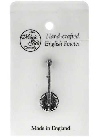 Pewter Pin Badge - Banjo