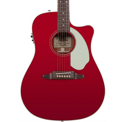 Fender Sonoran SCE Electro Acoustic Guitar in Candy Apple Red