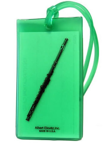 Musical Instrument Name Tag - Flute (various colours)