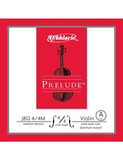 D'Addario Prelude Violin String - Medium - 4/4 - A (2nd)