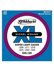 D'Addario XL Electric Guitar Strings - Super Light (9-42) - Set