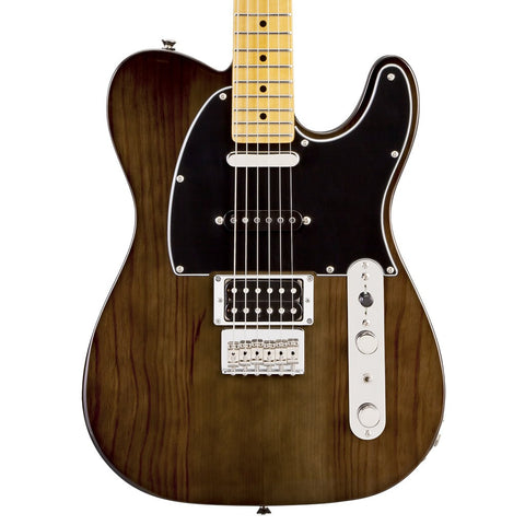 Fender Modern Player Telecaster Plus Electric Guitar in Charcoal Transparent