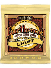 Ernie Ball Earthwood Acoustic Guitar Strings - Light (11-52) - Set