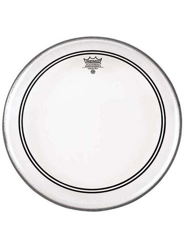 Remo Powerstroke 3 Bass Drum Head - Clear - 20'' (with 2.5'' Falam Patch)