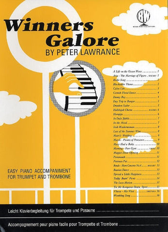 Winners Galore - Easy Piano Accompaniment for Trumpet + Trombone