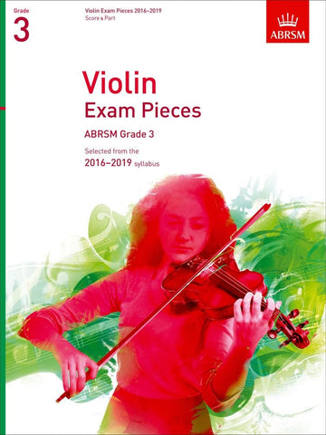 ABRSM Selected Violin Exam Pieces 2016-2019 - Grade 3 - Violin + Piano
