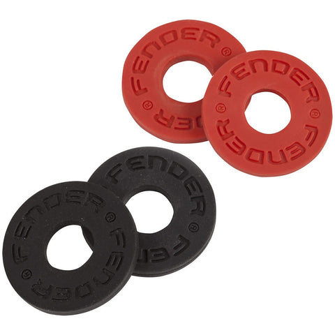 Fender Strap Blocks - 2 Pairs (Red + Black)