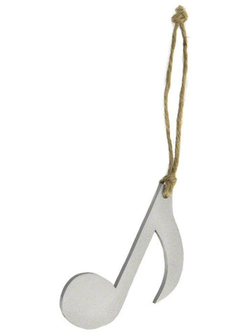 Quaver Christmas Tree Decoration - Silver Sparkly