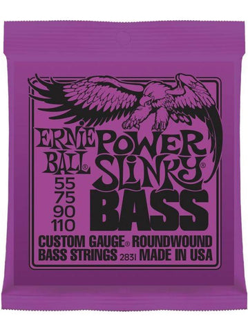 Ernie Ball Power Slinky Electric Bass Guitar Strings (55-110) - Set