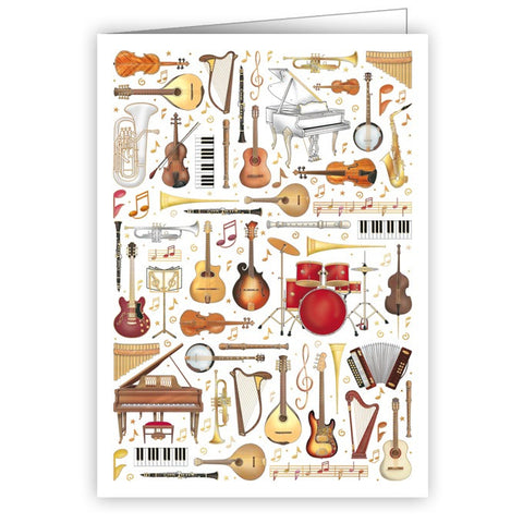 Instruments Blank Mini Greetings Card