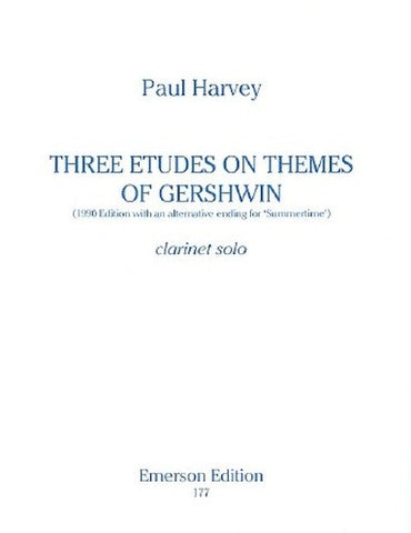 P Harvey: Three Etudes on Themes of Gershwin - Clarinet + Piano