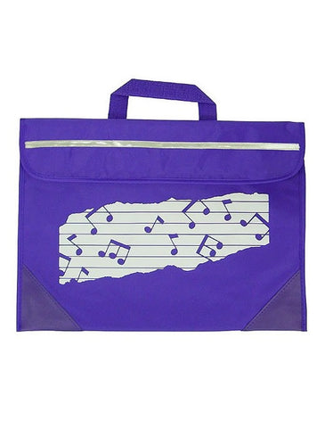 Mapac Music Bag Duo - Music Notes - Purple
