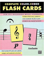 Complete Colour-Coded Flash Cards (89 Cards)