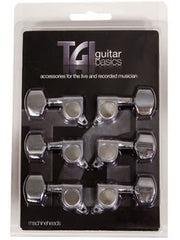 TGI Electric Guitar Machine Heads - Chrome - 3R/3L