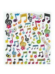 Floral Music Notes and Clefs Stickers