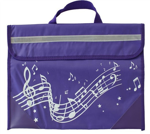 Musicwear: Wavy Stave Music Bag - Purple