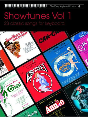 The Easy Keyboard Library: Showtunes - Volume 1