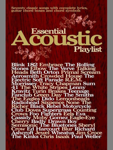 Essential Acoustic Playlist - Chord Songbook