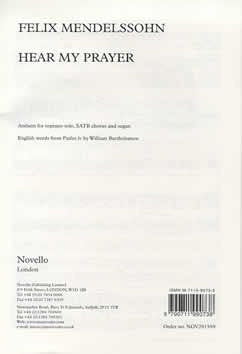 F. Mendelssohn: Hear My Prayer - Soprano Solo, SATB + Organ