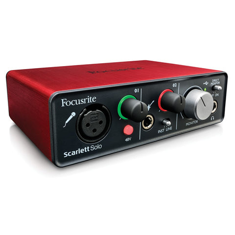 Focusrite Scarlett Solo USB Audio Interface (Incl. Pro Tools First)