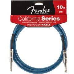 Fender California Series Instrument Cable in Lake Placid Blue - 10ft
