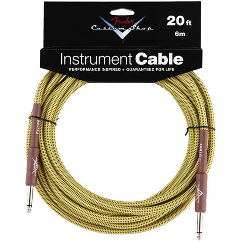 Fender Custom Shop Instrument Cable in Tweed - 20ft