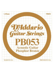 D'addario Phosphor Bronze Acoustic Guitar String - .053 Gauge