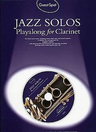 Guest Spot: Jazz Solos Playalong For Clarinet (with CD)