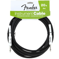 Fender Performance Series Instrument Cable in Black - 20ft