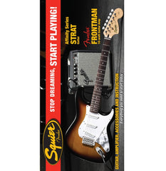 Squier Affinity Series Stratocaster in Brown Sunburst with Fender 10G Amp Pack