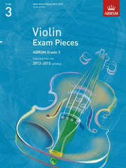 ABRSM Selected Violin Exam Pieces 2012-2015 - Grade 3 - Violin + Piano