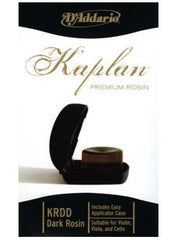 D'Addario Kaplan Premium Dark Rosin with Case - for Violin/Viola/Cello