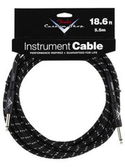 Fender Custom Shop Instrument Cable in Black Tweed - 18.6ft