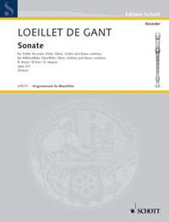 Loeillet: Sonata Opus 3, No. 2 in Bb major (Flute + Piano)