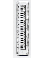 Ruler 15cm - Keyboard Design (Clear)