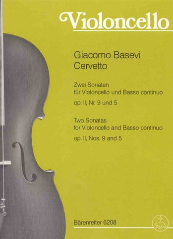 Cervetto - Two Sonatas Op.2 Nos. 5 + 9 - Cello