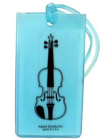 Musical Instrument Name Tag - Violin/Viola (various colours)