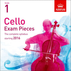 ABRSM Cello Exam Pieces - Grade 1 starting 2016 (CD)