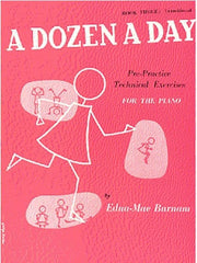 A Dozen A Day Piano Book Three (Transitional)