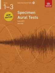ABRSM Specimen Aural Tests (from 2011) - Grades 1-3 (with CD)