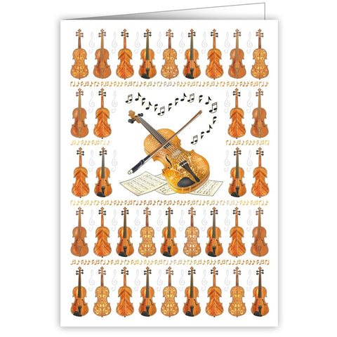 Violins Blank Greetings Card